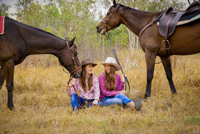 Girls & their Horses Portrait by Tess Photography